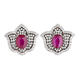 RUBY AND DIAMOND EARRINGS -    - Fine Jewels and Objets