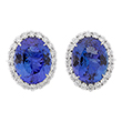 TANZANITE AND DIAMOND EARRINGS - Fine Jewels and Objets