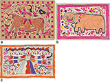 THREE MITHILA PAINTINGS -    - Living Traditions: Folk & Tribal Art