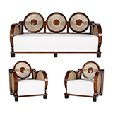 MEDALLION BACK SOFA SET <br> Mumbai -    - An Aesthete's Vision