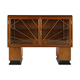 ART DECO GLASS-FRONTED DISPLAY CABINET <br> Mumbai -    - An Aesthete's Vision