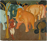 Untitled (Elephants in a Forest) - Govind Madhav  Solegaonkar - Evening Sale | Live, New Delhi