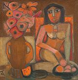 Still Life with Nude - Badri  Narayan - The Ties That Bind: South Asian Modern and Contemporary Art