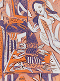 Interior with Fish - K G Subramanyan - The Ties That Bind: South Asian Modern and Contemporary Art