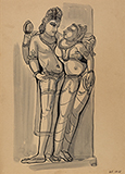 Untitled (Khajuraho) - Somnath  Hore - Summer Online Auction