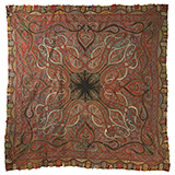 SQUARE SHAWL WITH SUNBURST CENTRE -    - Woven Treasures: Textiles from the Jasleen Dhamija Collection