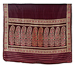 BALUCHARI SARI WITH FLORAL MOTIF - Woven Treasures: Textiles from the Jasleen Dhamija Collection
