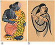 PAIR OF KALIGHAT PATS - Living Traditions: Folk and Tribal Art