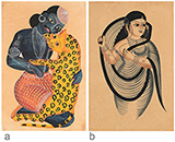 PAIR OF KALIGHAT PATS -    - Living Traditions: Folk and Tribal Art