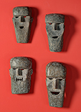 SET OF TRIBAL MASKS -    - Living Traditions: Folk and Tribal Art