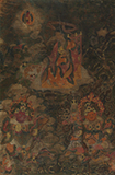 THANGKA WITH ARHAT AND GUARDIAN KINGS -    - Asian Art