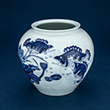 BLUE AND WHITE PORCELAIN JAR - Asian Art