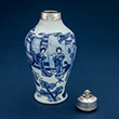 BLUE AND WHITE VASE WITH A SILVER MOUNT - Asian Art