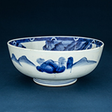 BLUE AND WHITE PORCELAIN BOWL -    - Asian Art