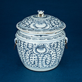 BLUE AND WHITE PORCELAIN KAMCHENG -    - Asian Art