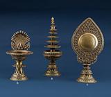 THREE ALTAR PIECES -    - Asian Art