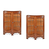 ART DECO CORNER CABINET -    - The Design Sale