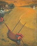 Golden Dusk - A A Raiba - Evening Sale | Live Auction, Mumbai