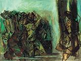 Untitled (Dancers & Musicians) - M F Husain - Evening Sale | Live Auction, Mumbai