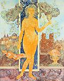 Le Miroir du Temps (Mirror of   Time) - Sakti  Burman - Evening Sale   Live Auction, Mumbai