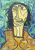Head of a Woman - F N Souza - Evening Sale | Live Auction, Mumbai