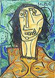 Head of a Woman - F N Souza - Evening Sale | Live Auction, Mumbai