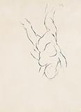 Falling Figure II - Tyeb  Mehta - Evening Sale | Live Auction, Mumbai