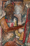Portrait of Husain - F N Souza - Evening Sale | Live Auction, New Delhi