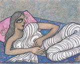Jogen  Chowdhury-Woman Reclining