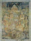 Sakti  Burman-Visitors to the Taj Mahal
