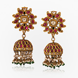 -A GEMSET 'JHUMKI'S OR EARRINGS