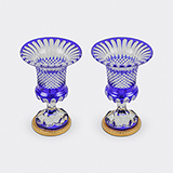 -PAIR OF BOHEMIAN CUT GLASS VASES