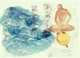 Man on top of Balloon - Nalini  Malani - Auction 2000 (November)