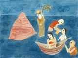 Homage to the mountain, water and motherhood - Badri  Narayan - Auction 2001 (December)