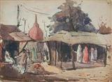 Village Scene - Suhas  Roy - Auction 2001 (December)