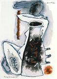 Homage to Cimabue IV - M F Husain - Auction 2002 (December)