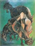 Three Goats - Paritosh  Sen - Auction 2002 (December)