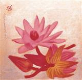 Study of Water Lilies - A  Ramachandran - Auction 2002 (May)