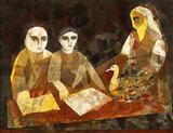 Reading of the Hamsa Jataka - Badri  Narayan - Auction 2002 (May)