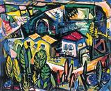 Townscape - S H Raza - Auction 2002 (May)