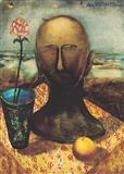 Still Life with a Head - Anjolie Ela Menon - Auction 2003 (December)