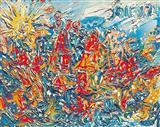 London Townscape - F N Souza - Auction 2003 (December)