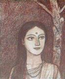 Woman and the Tree - Ganesh  Pyne - Auction 2003 (May)