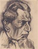 Portrait of Satyajit Ray - Paritosh  Sen - Auction 2003 (May)