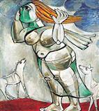 Woman Braving a Storm - Paritosh  Sen - Auction 2003 (May)