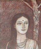 Woman and the Tree - Ganesh  Pyne - Auction 2004 (December)
