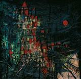 Red Moon - F N Souza - Auction 2004 (December)