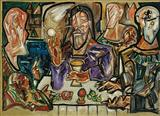 Sabbath at Emmaus - F N Souza - Auction 2004 (December)