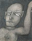 Man with Raised Hand - Jogen  Chowdhury - Auction May 2005