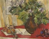 Leaves a Violin... - Jehangir  Sabavala - Auction May 2005